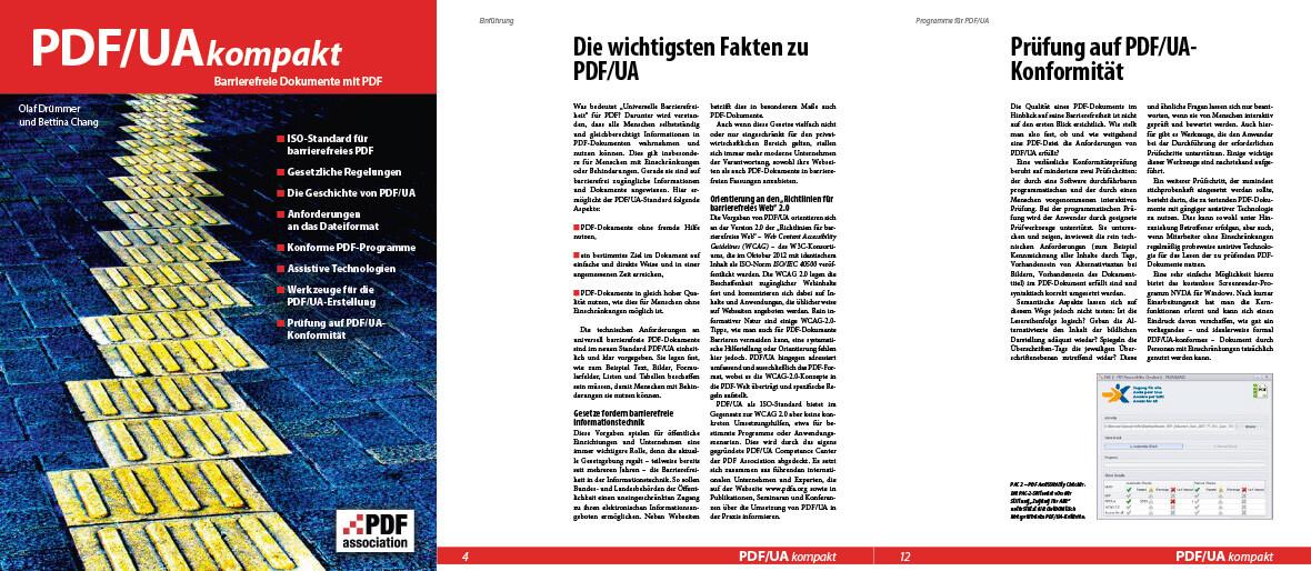 Seitenimhalt PDF/UA Kompakt Broschüre