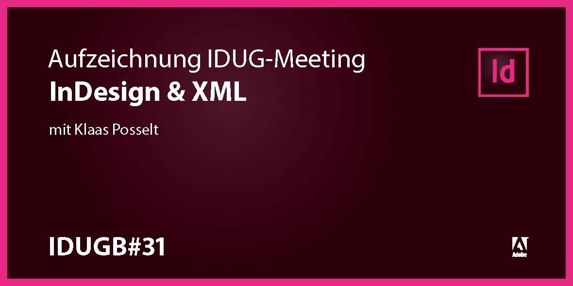 Teaserbild InDesign User Group InDesign und XML