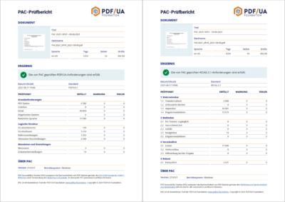 PDF/UA und WCAG-Bericht von PAC 2021