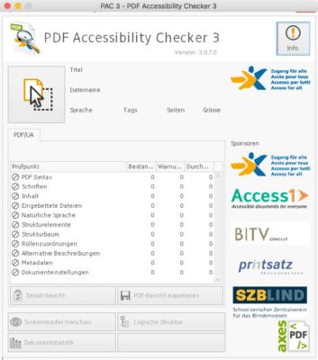 PDF Accessibility Checker 3 auf dem Mac mit CrossOver