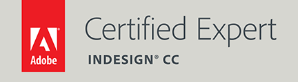 Adobe InDesign Certifiedd Expert Badge