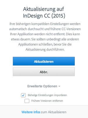 Updatedialog Adobe CC 2015