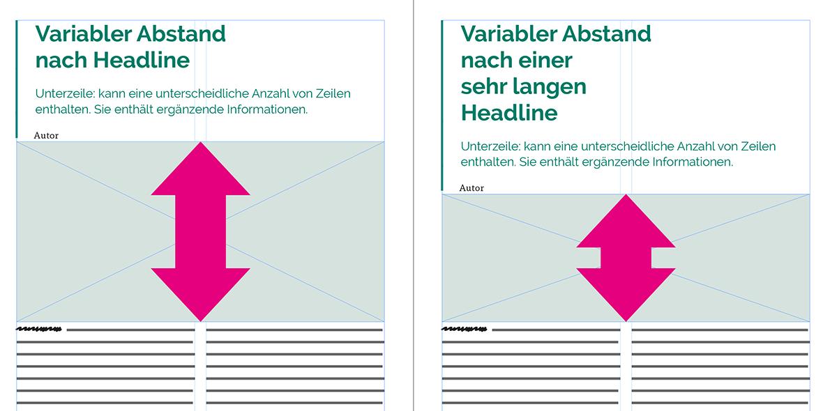 Beisipielbild unterschiedlicher Abstand zwischen Texten