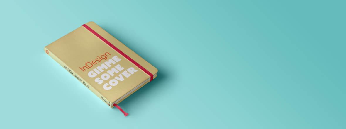 Mit Photoshop und InDesign erstelltes Notizbuch als 3D Mockup