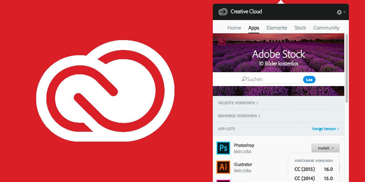 Teaserbild: Adobe Creative Cloud – ALtes Programm installieren