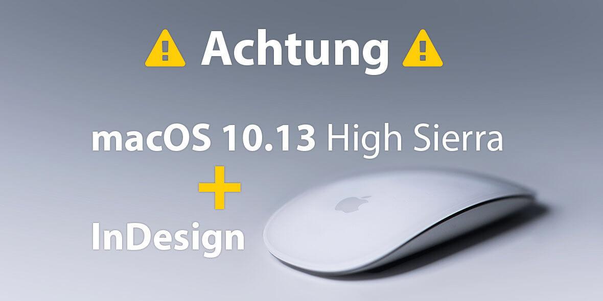 Bildschirmmontage Apple Maus und Warnungstext