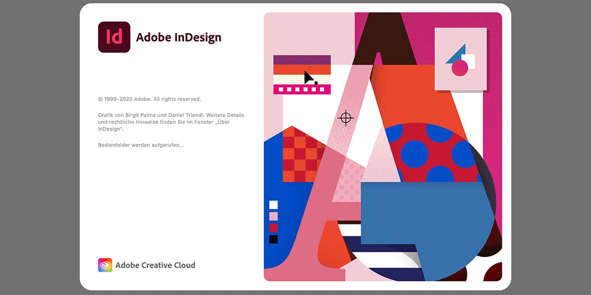 Startbildschirm Adobe InDesign 2021