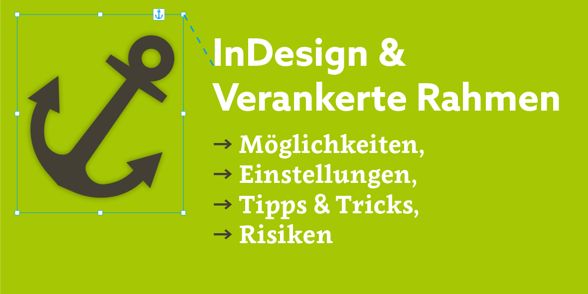 Titelbild: Verankerte Rahmen in InDesign