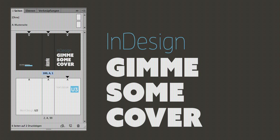 Montage: InDesign Seitenpalette mit Slogan