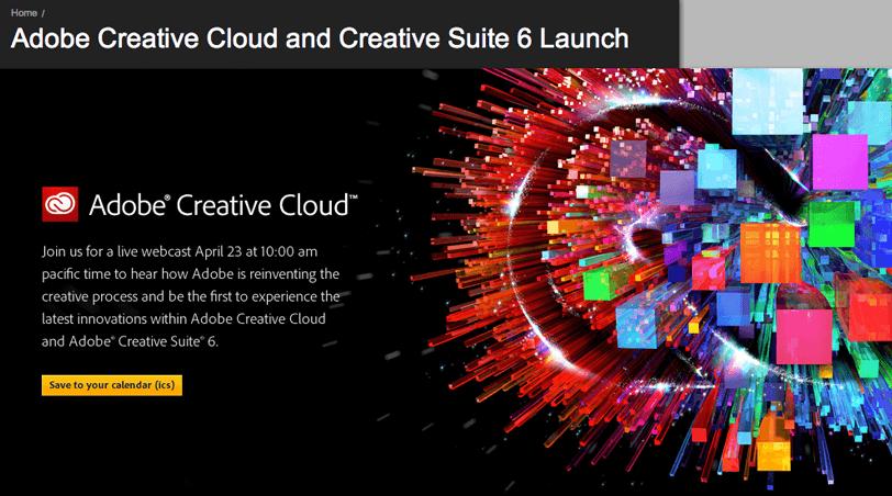 Adobe Creative Suite 6 Lauchbild