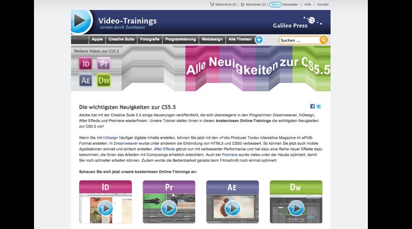 Webseite: http://www.galileo-videotrainings.de/creativesuite/